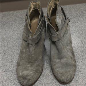 Rag & Bone Harlow gray suede booties size 38/8